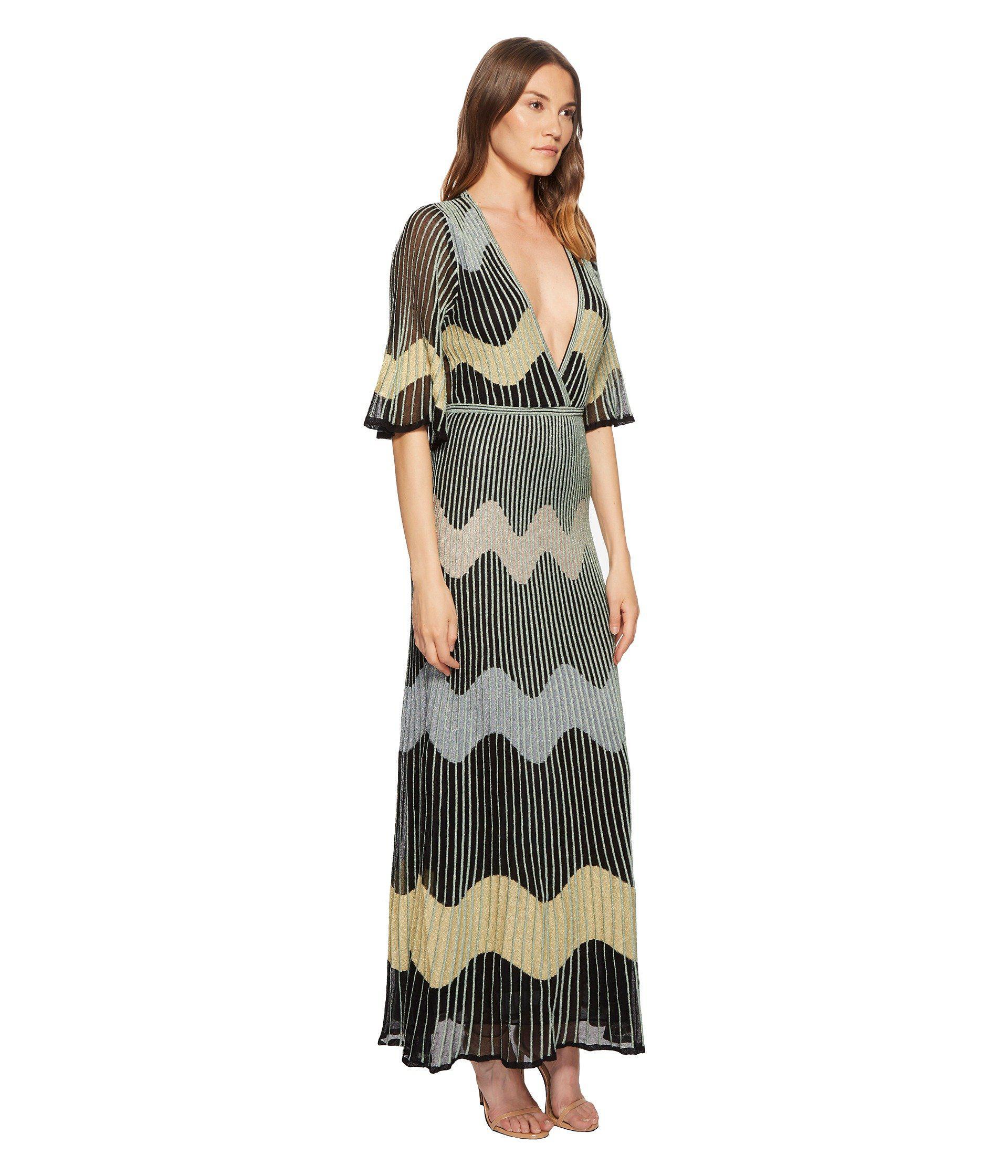 affb1bacd1 M Missoni Lurex Wave Intarsia Maxi Dress (black) Women's Dress in ...
