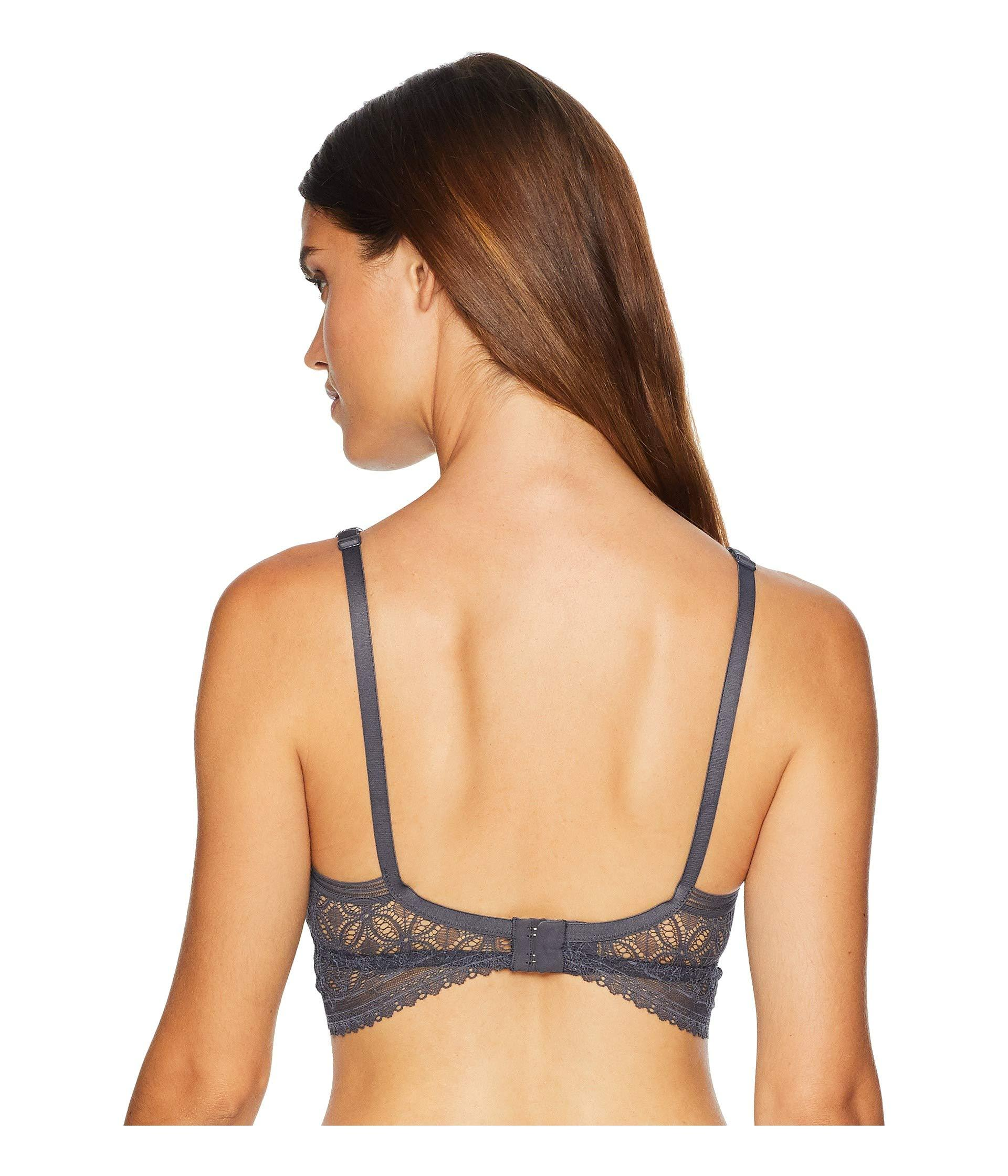 8c9f510fdb153 Lyst - Else Chloe Soft Cup Longline Bra (black) Women s Bra in Gray