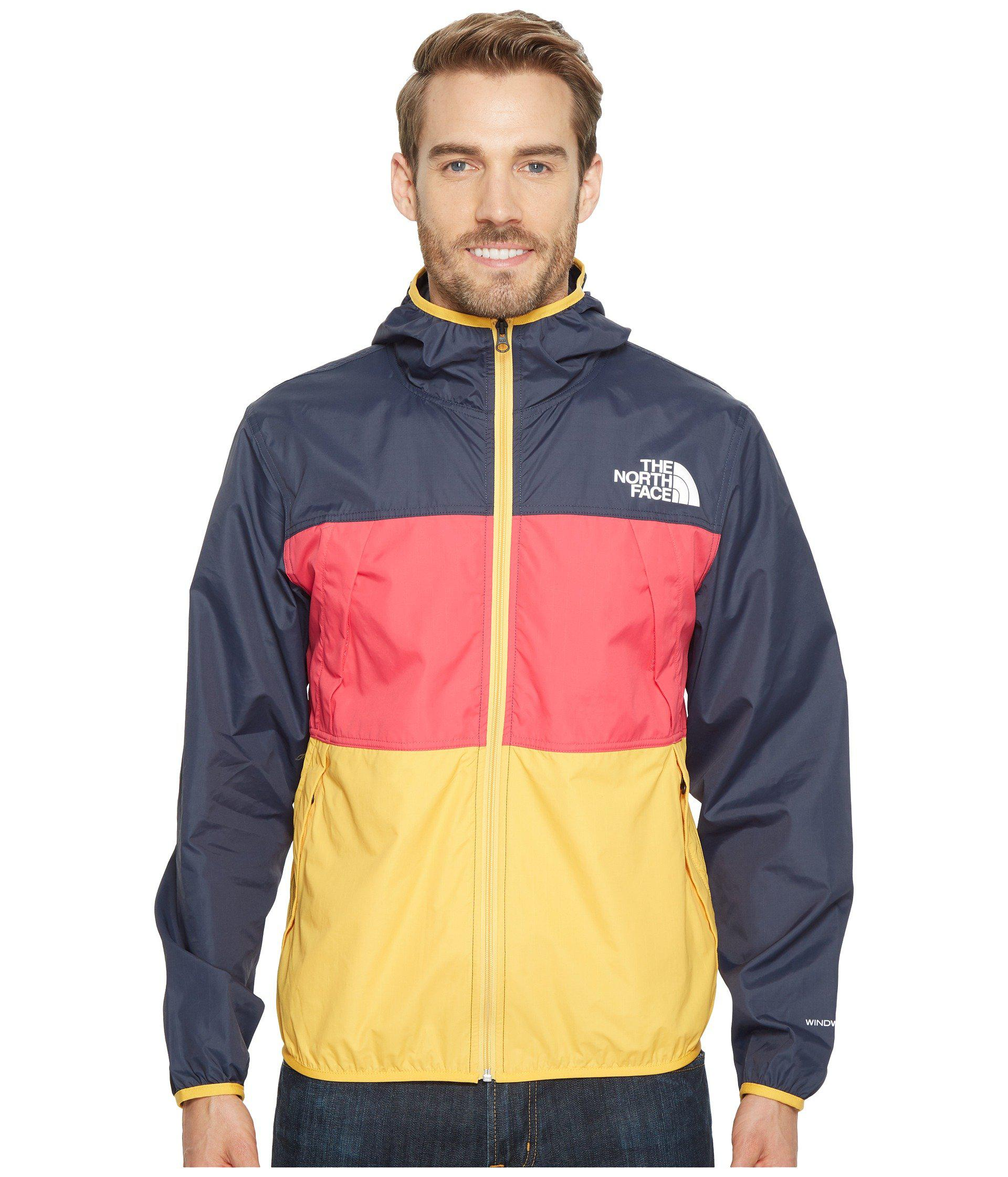 55bfb6b855c5 Lyst - The North Face Telegraph Wind Jacket (urban Navy raspberry ...