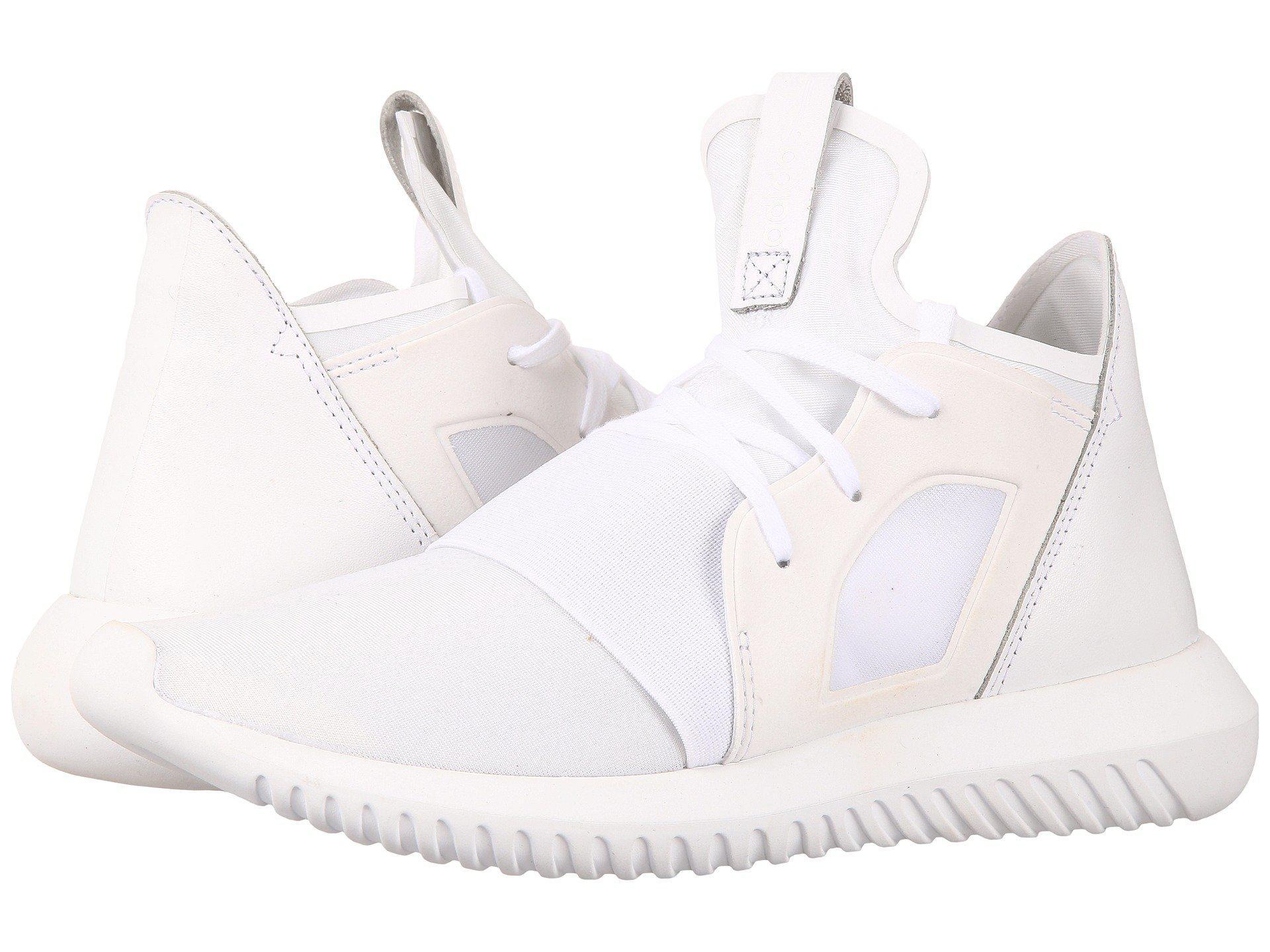 lyst adidas originali tubulare ribelle in bianco