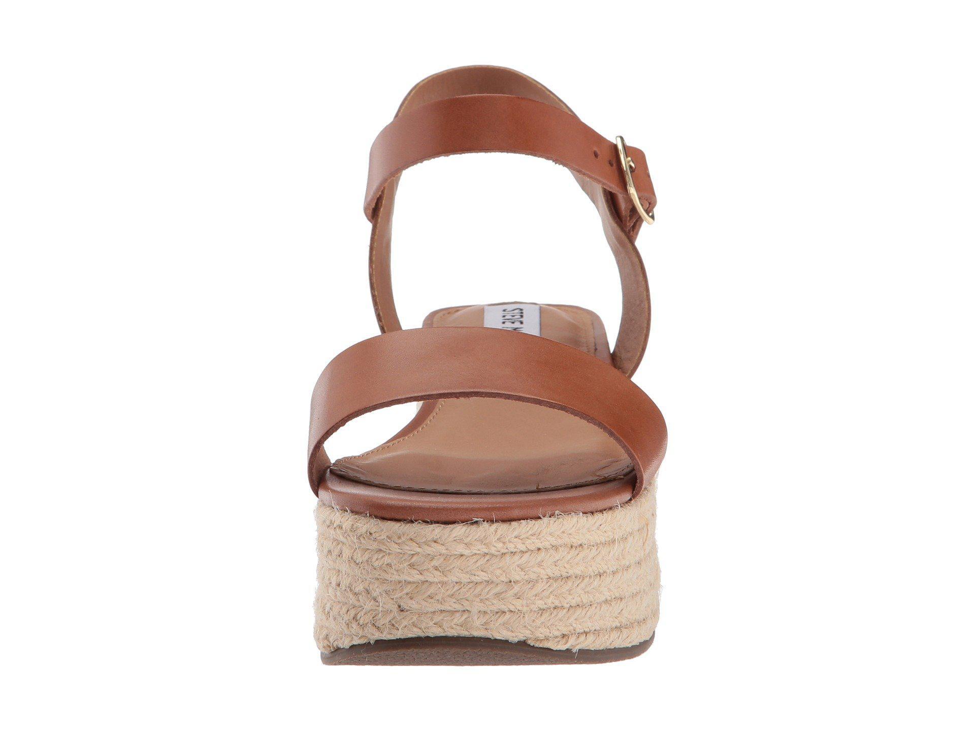 9a3786d6017 Brown Busy Platform Espadrille Sandal (cognac Leather) Women's Shoes