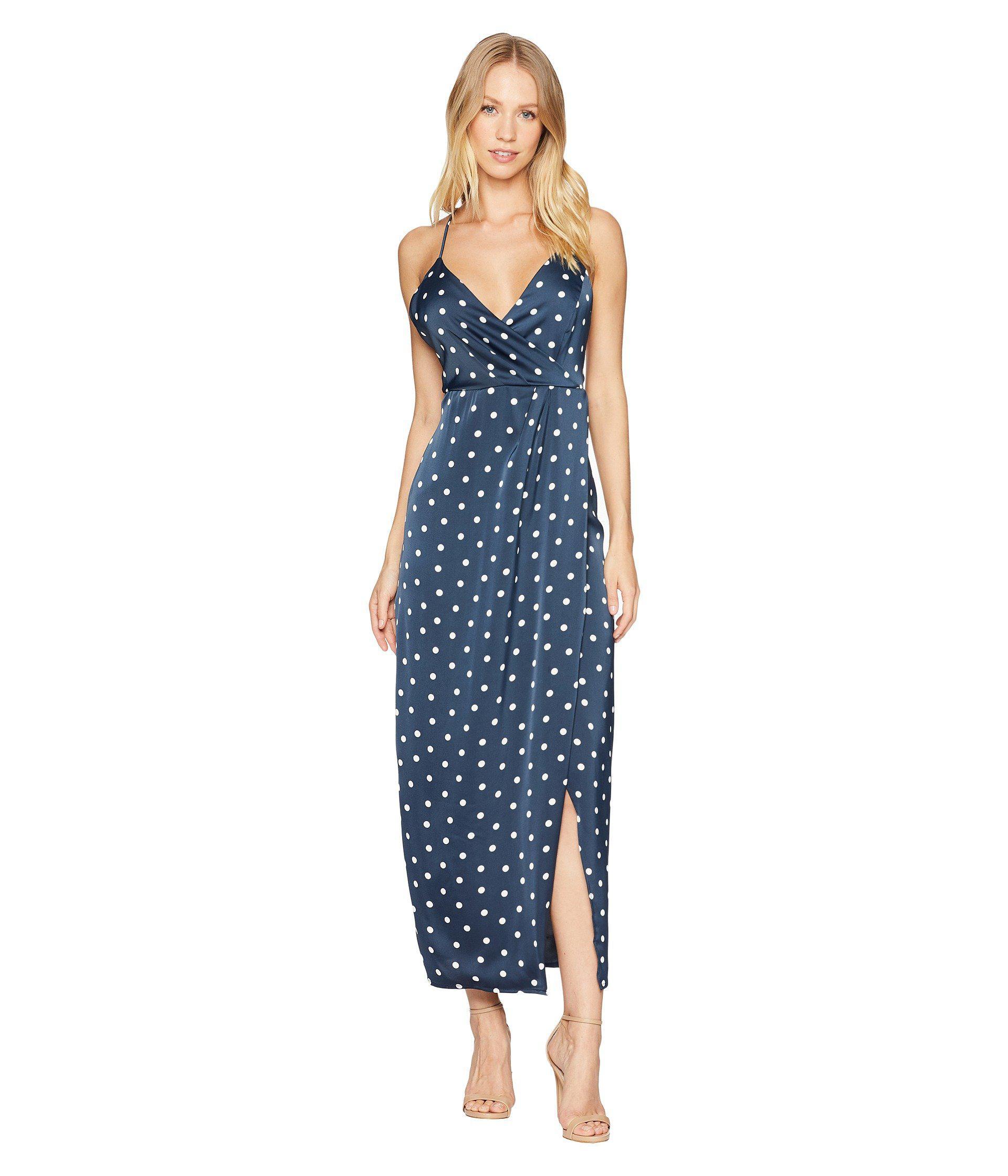 c5e980701f98 Lyst - Bardot Spotty Wrap Dress (french Navy) Women s Dress in Blue
