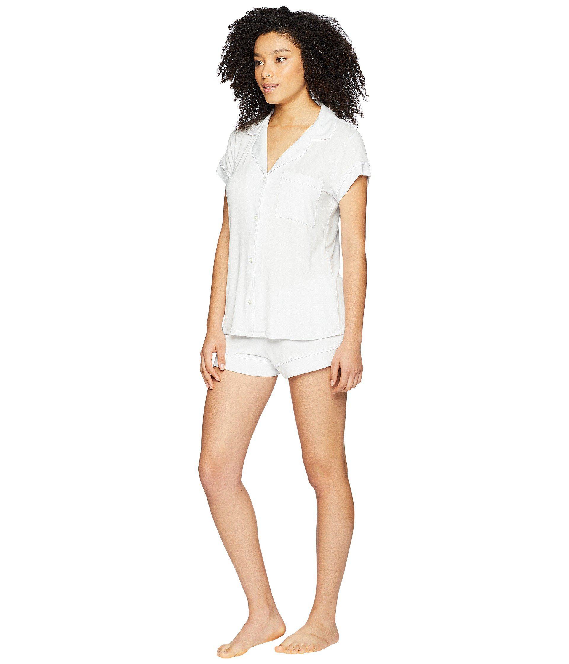 f376c9594 Eberjey Gisele - Basics Short Pj Set (navy ivory) Women s Pajama Sets in  Blue - Lyst