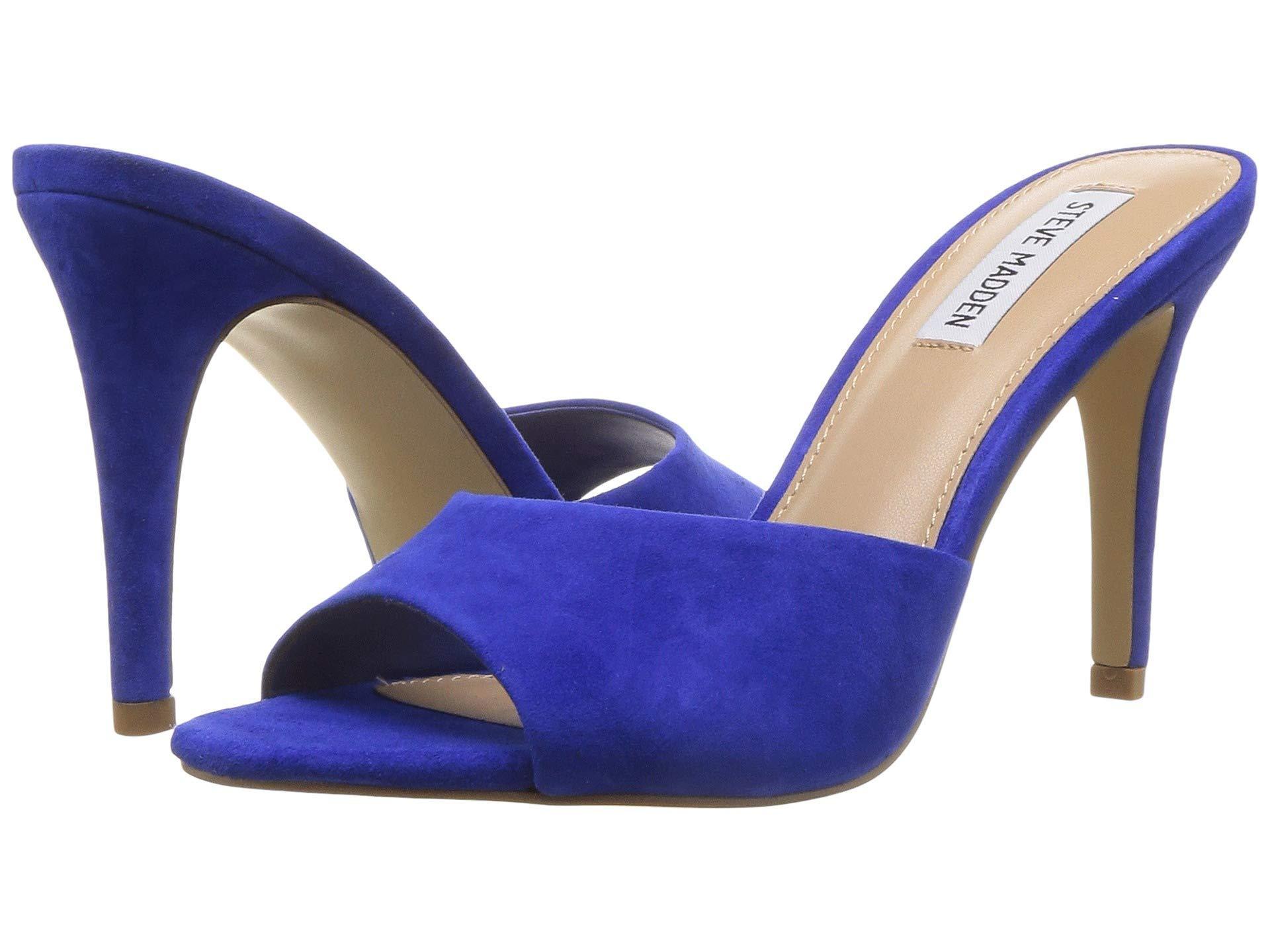 0c445704de0 Lyst - Steve Madden Erin Heeled Mule (pink Neon) High Heels in Blue