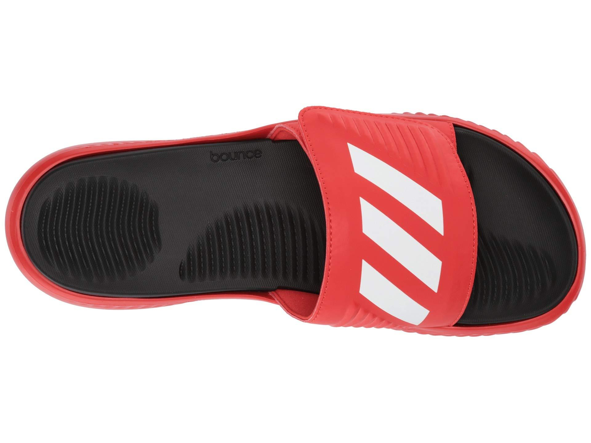 5e6943518d6 Adidas - Red Alphabounce Basketball Slides (dark Blue footwear White core  Black). View fullscreen