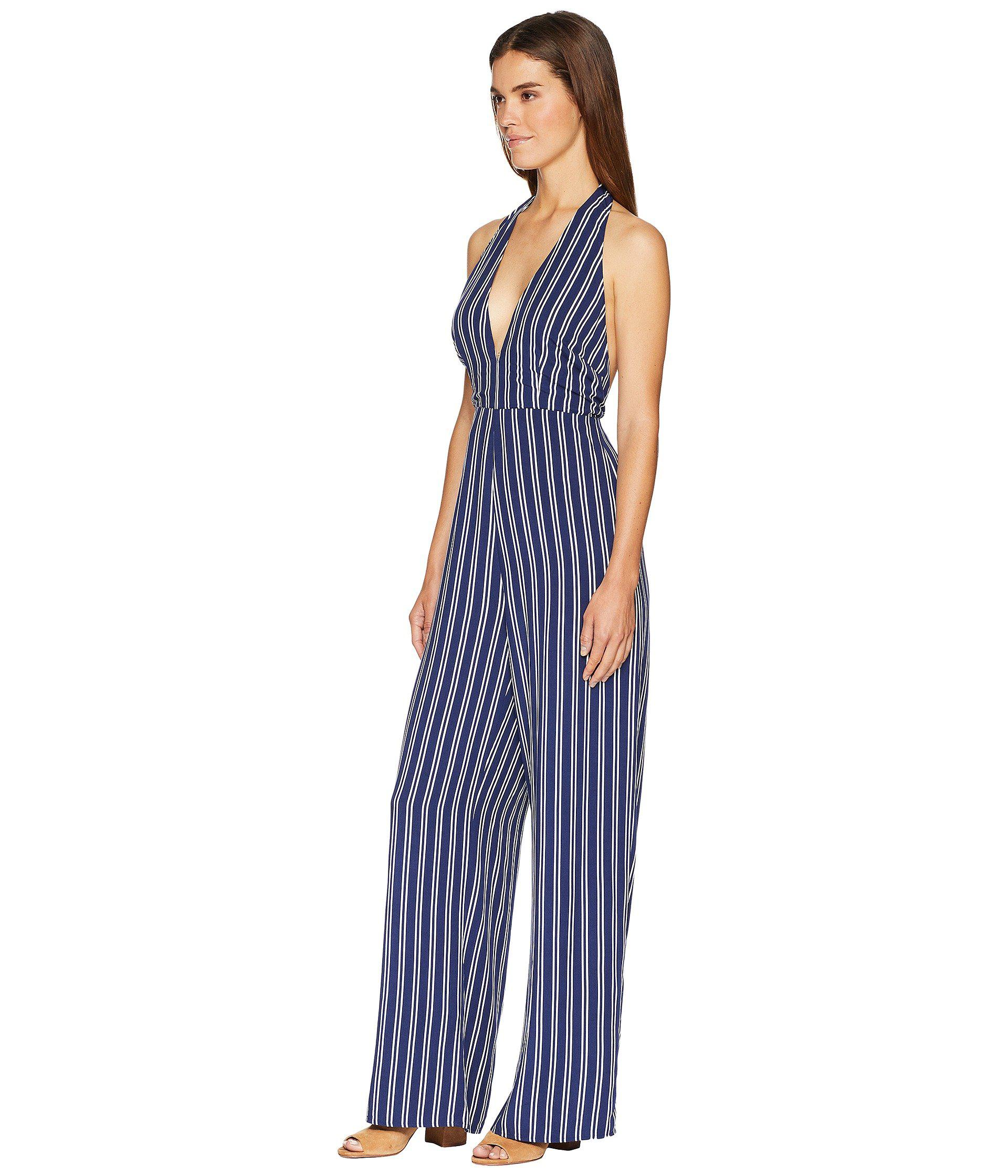 85bfe3c5974b Lyst - Jack BB Dakota All The Way Up Striped Rayon Challis Jumpsuit (dark  Blue) Women s Jumpsuit   Rompers One Piece in Blue