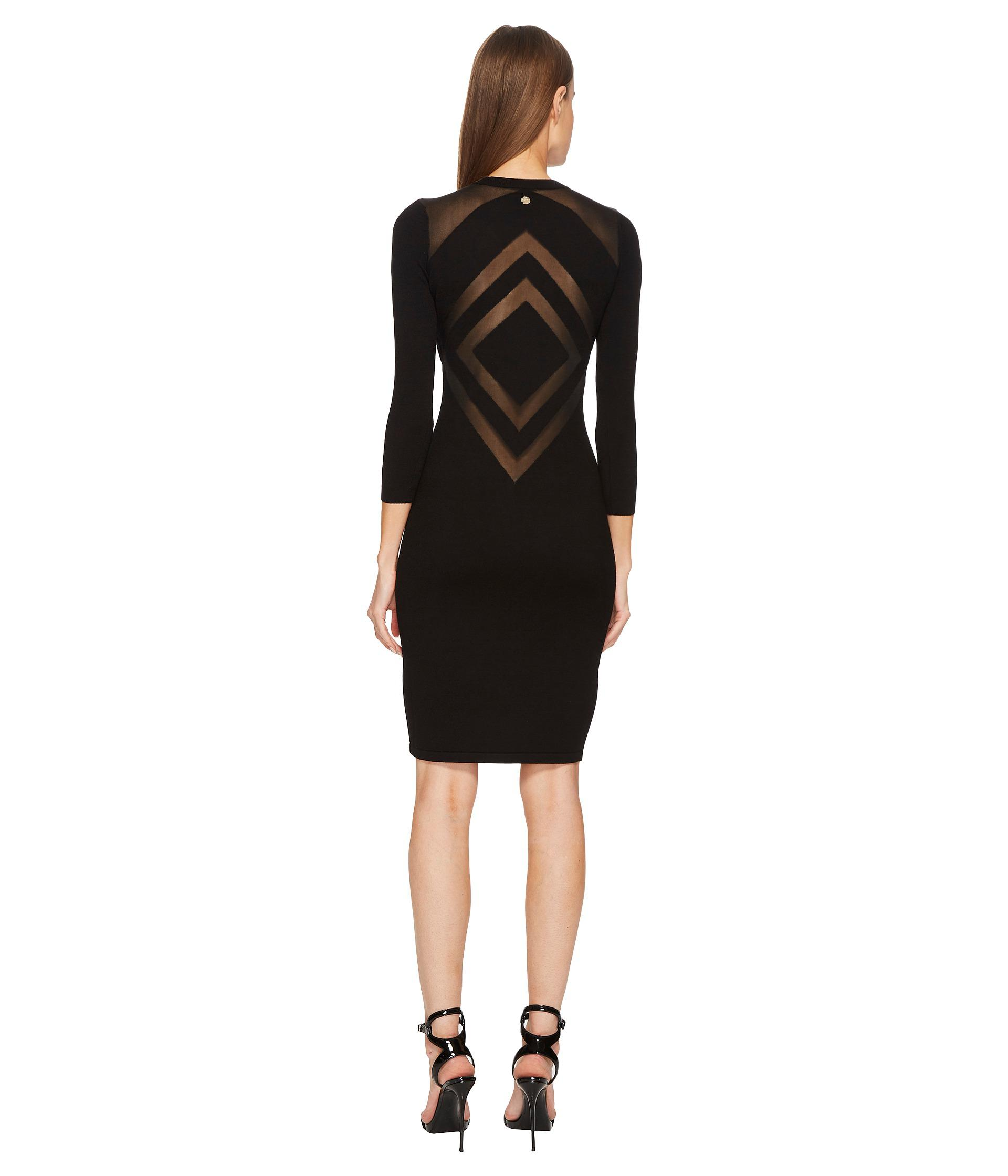 outlet store a1b9e c4715 Versace Synthetic Abito Maglia Donna Dress in Black - Lyst