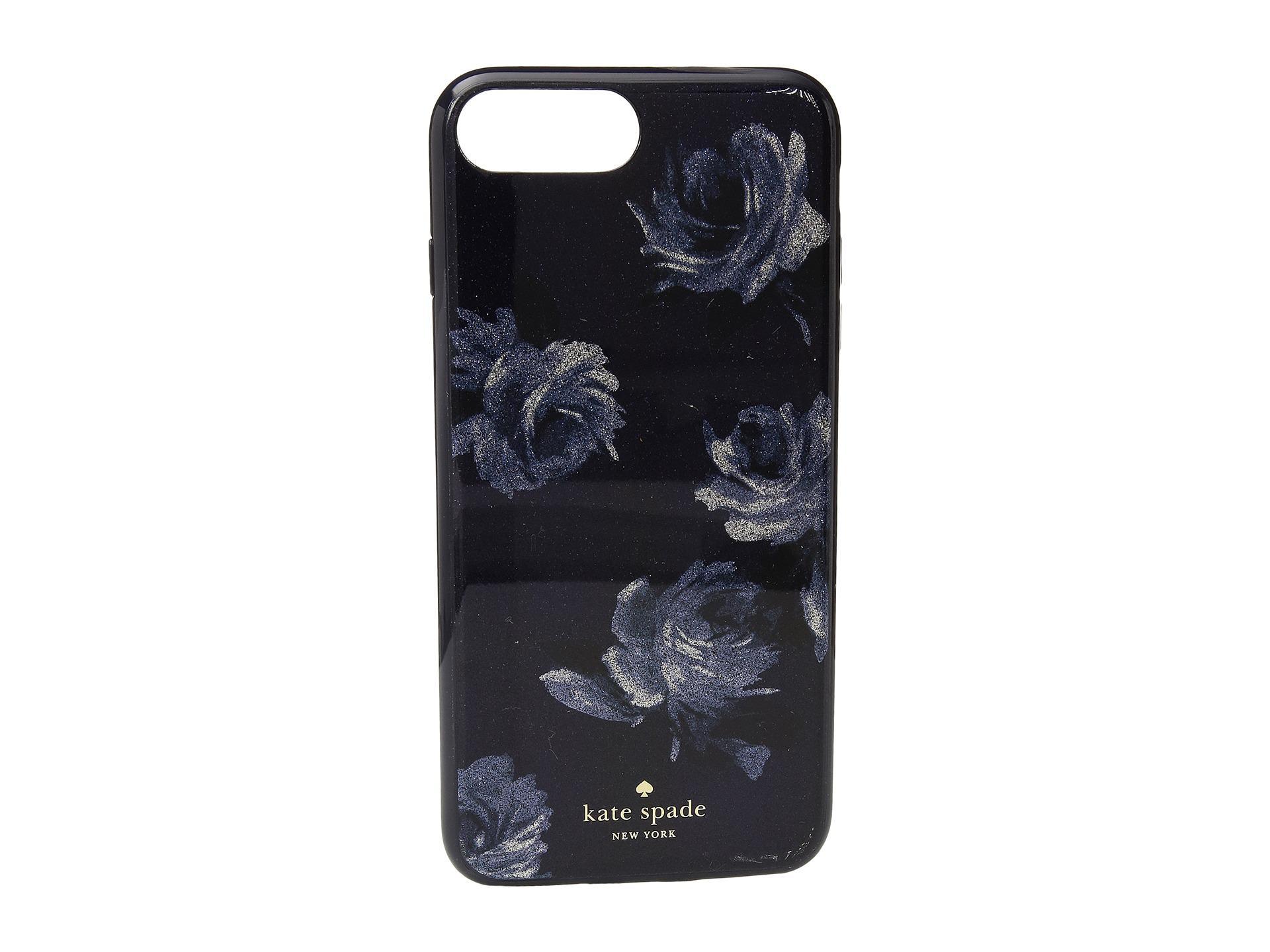 best service 6f0be ac97a Kate Spade Blue Night Rose Glitter Phone Case For Iphone® 7 Plus/iphone® 8  Plus