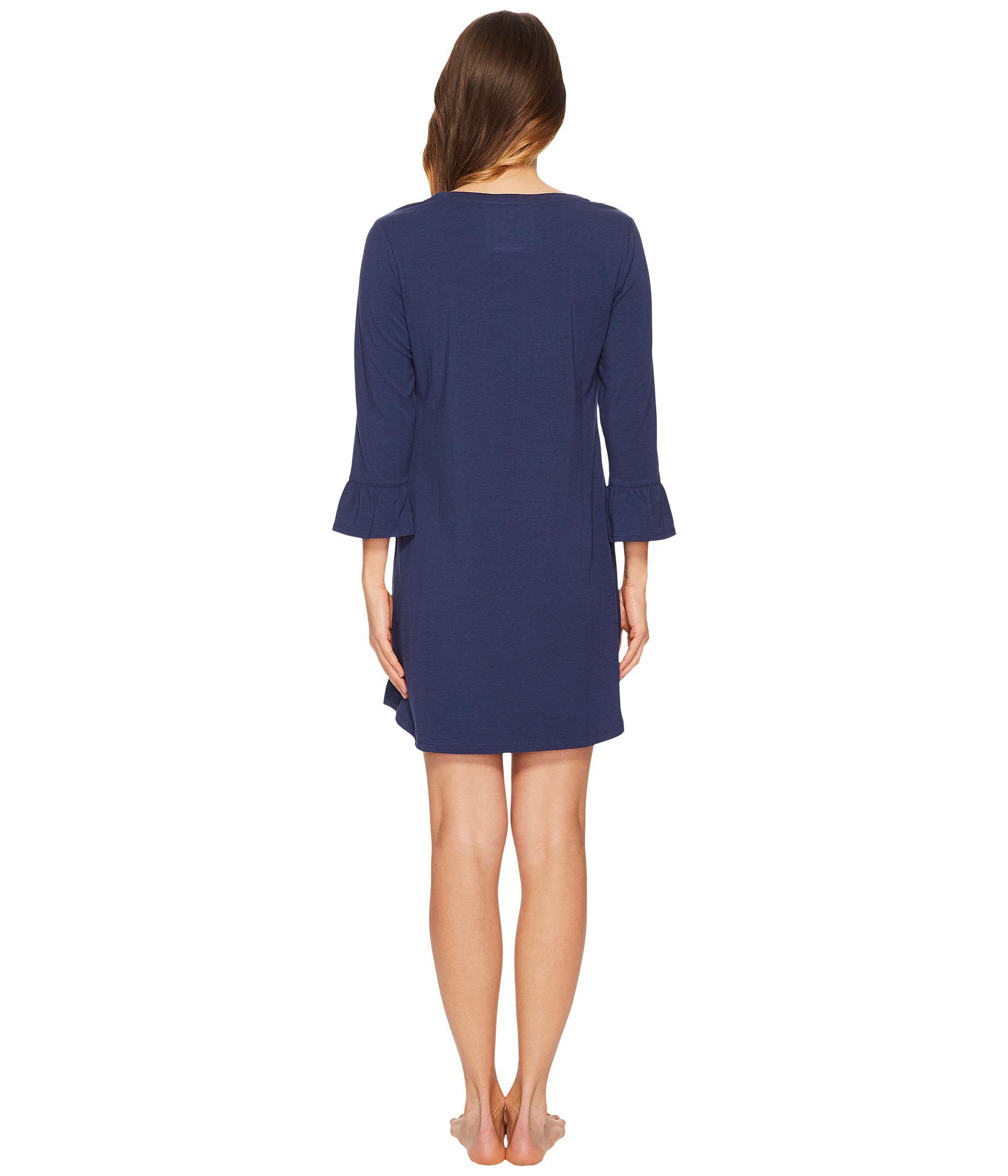 Lyst Kate Spade Good Morning Gorgeous Ruffle Sleepshirt In Blue