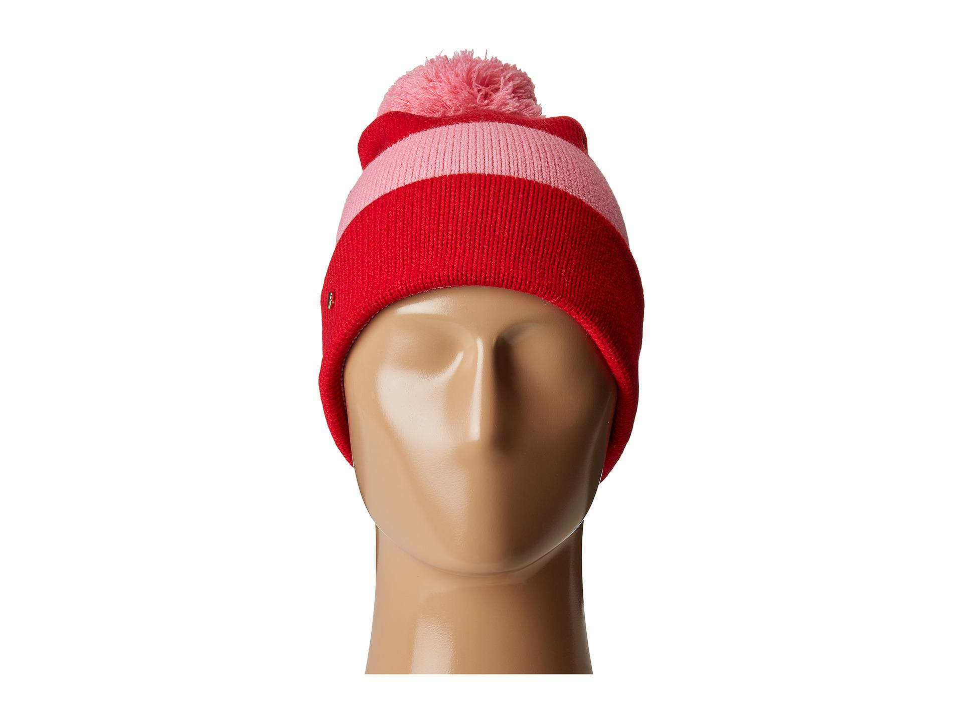 df40e9eeb758b Kate Spade Color Block Beanie in Red - Lyst