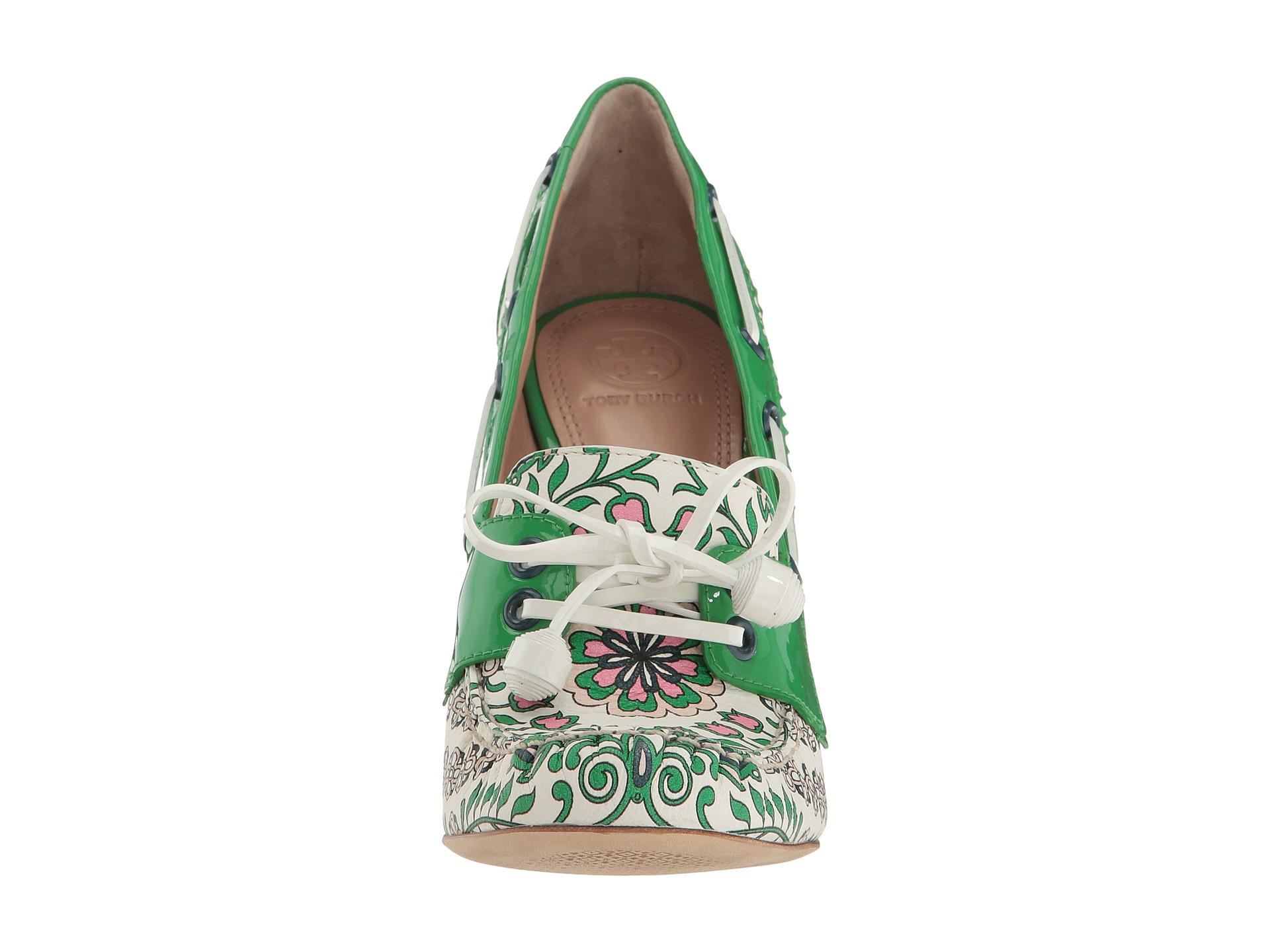 ed4ae9605 Lyst - Tory Burch Fisher 110mm Pump in Green