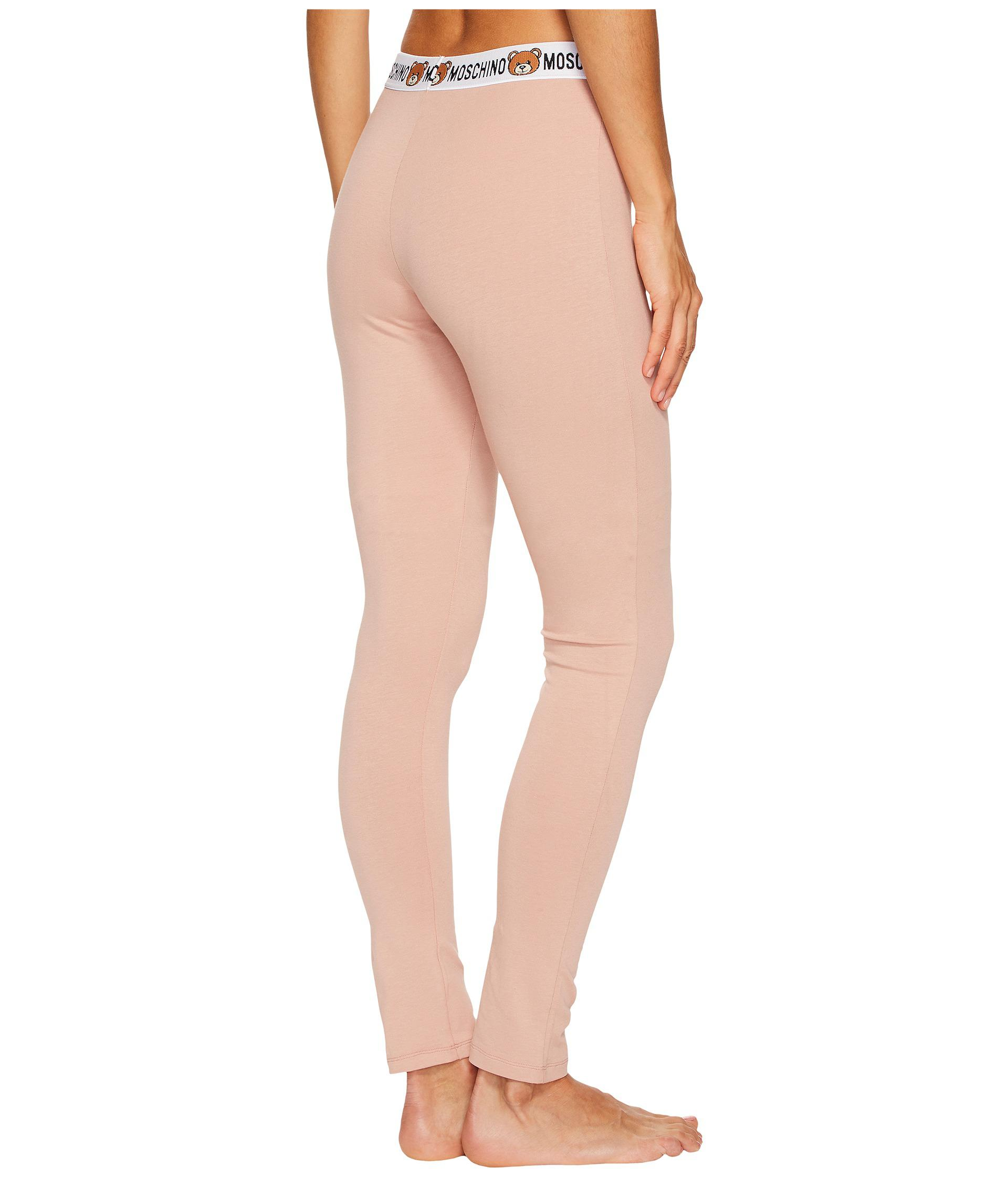 471dccc2bf168 Moschino Jersey Stretch Leggings in Pink - Lyst