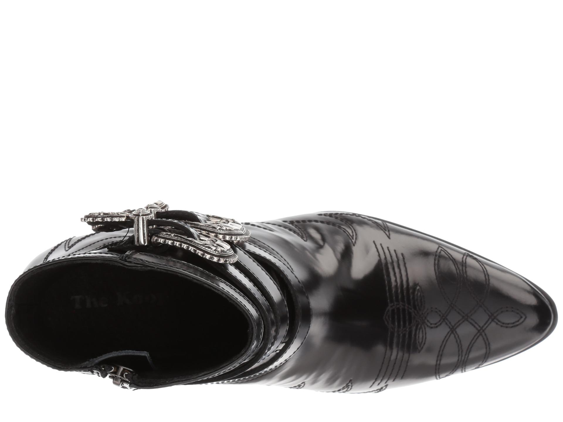 5a9592e24cc The Kooples Black Leather Cowboy Boots