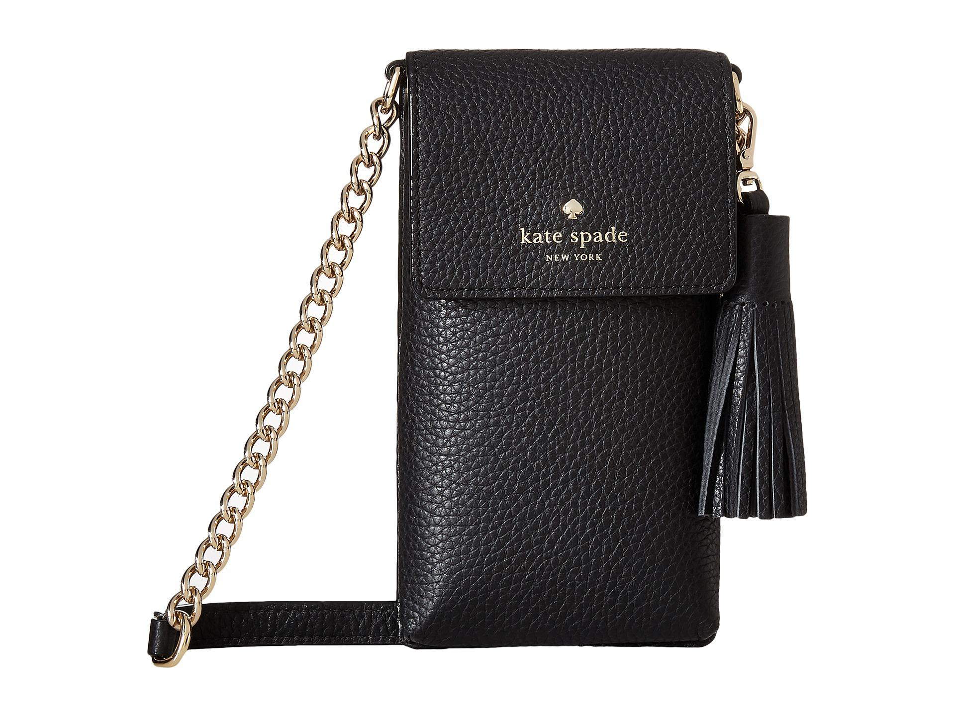 check out 2df0c 66a28 Kate Spade Black North/south Crossbody Phone Case For Iphone® 6, 6s, 7, 8