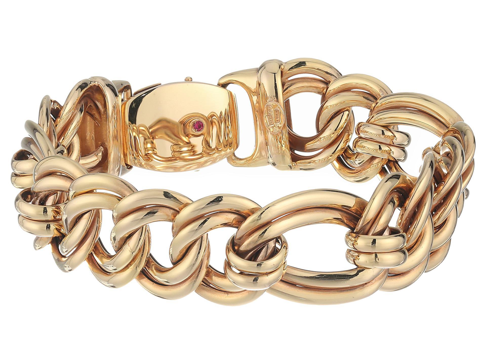 Roberto Coin 18k Rose Gold Flat Double-Link Bracelet RBFvcCu2G