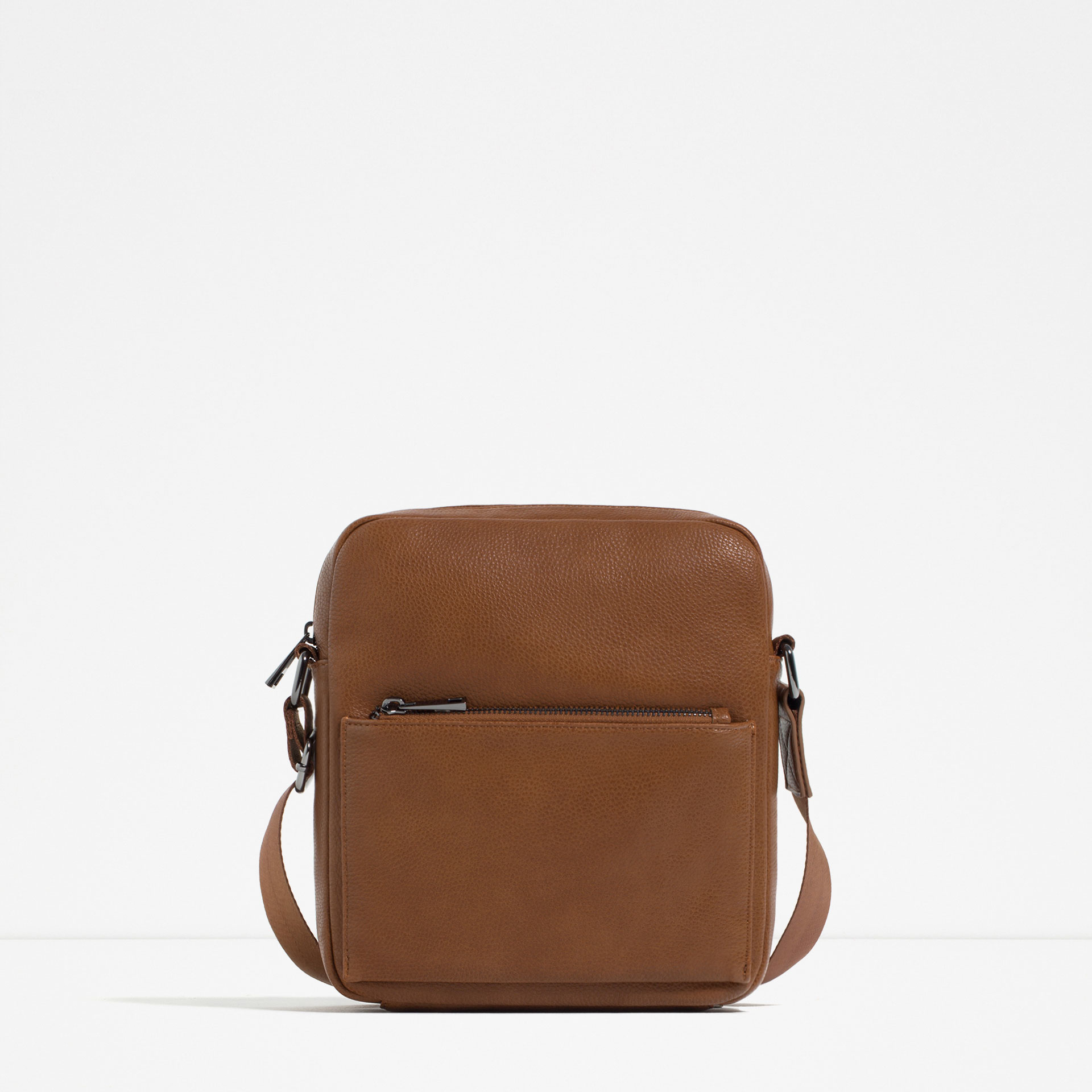 Zara Mini Brown Crossbody Bag For Men | Lyst