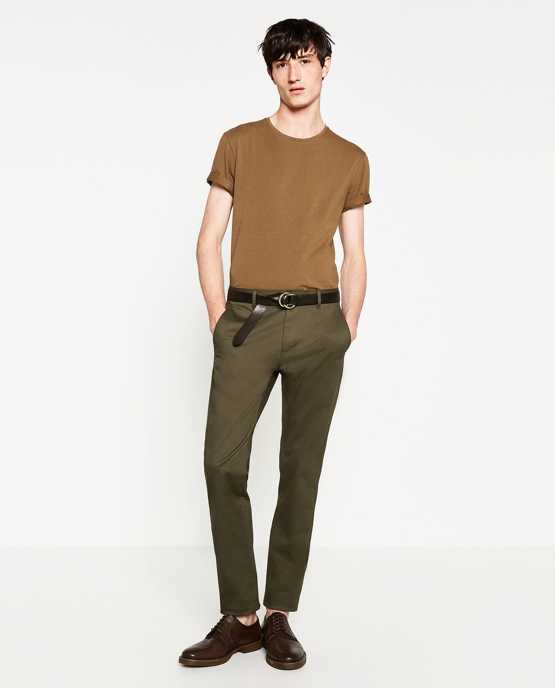 Zara super slim fit t shirt for men lyst for Super slim dress shirts