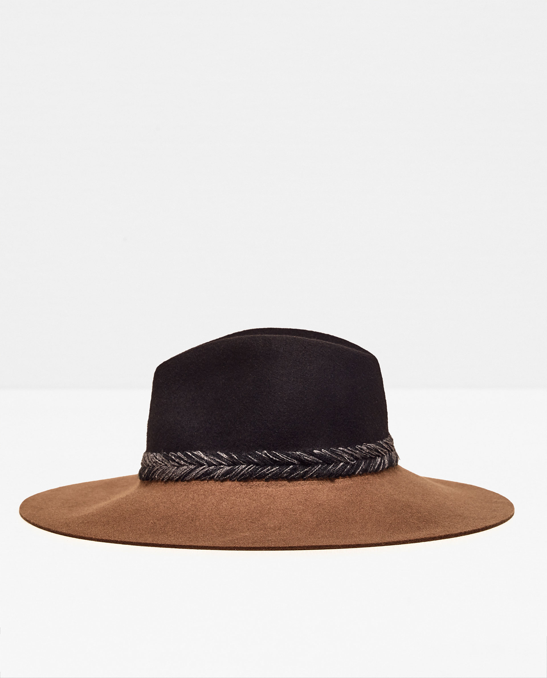 zara interwoven two tone hat in multicolor lyst