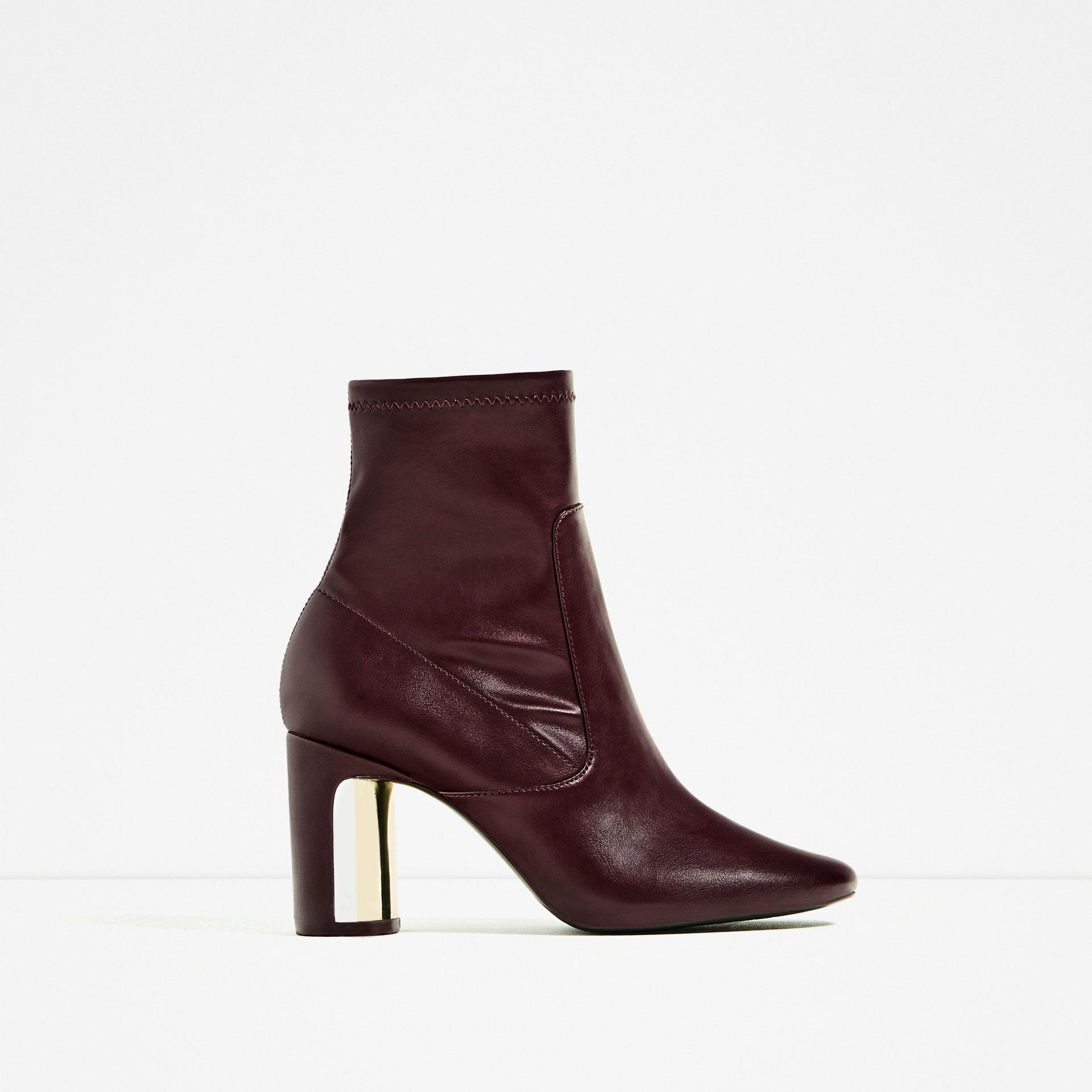 zara heel detail ankle boots lyst