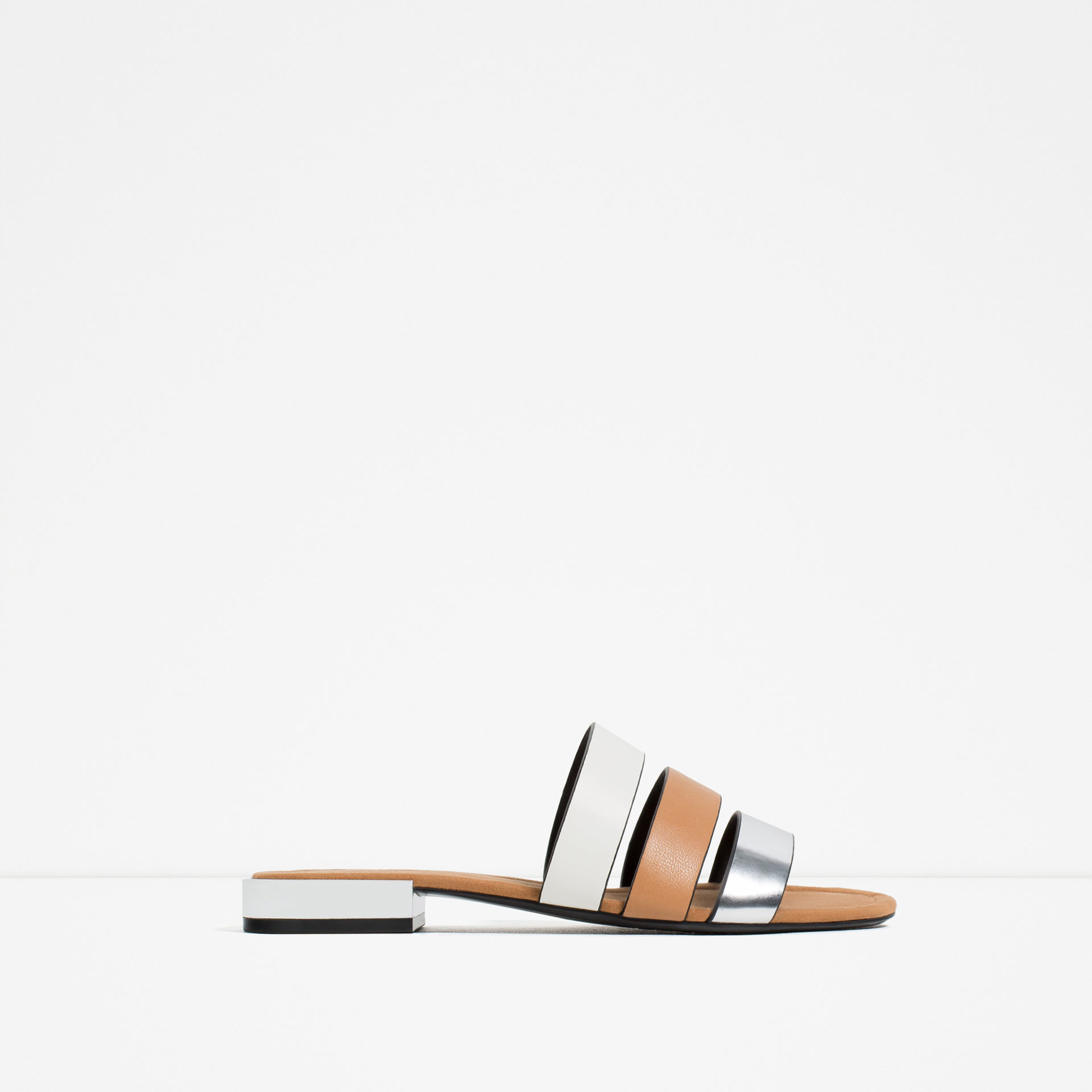 Simple Zara  Multicolor Flat Shoes With Brogue Detail  Lyst