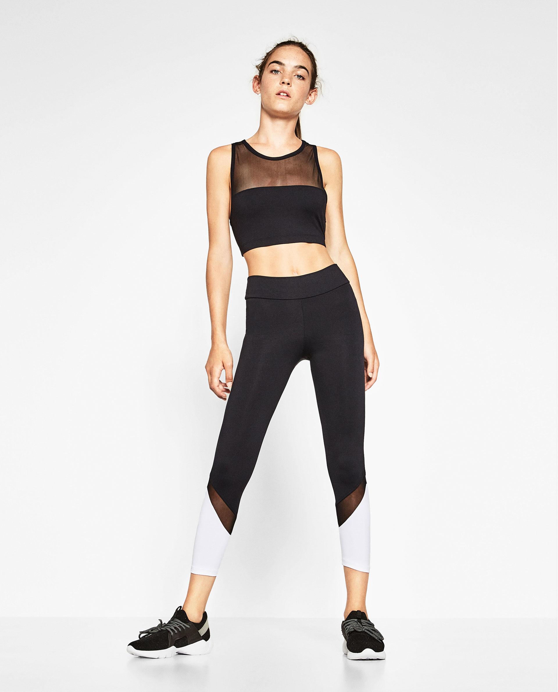Zara Two-toned Sports Leggings