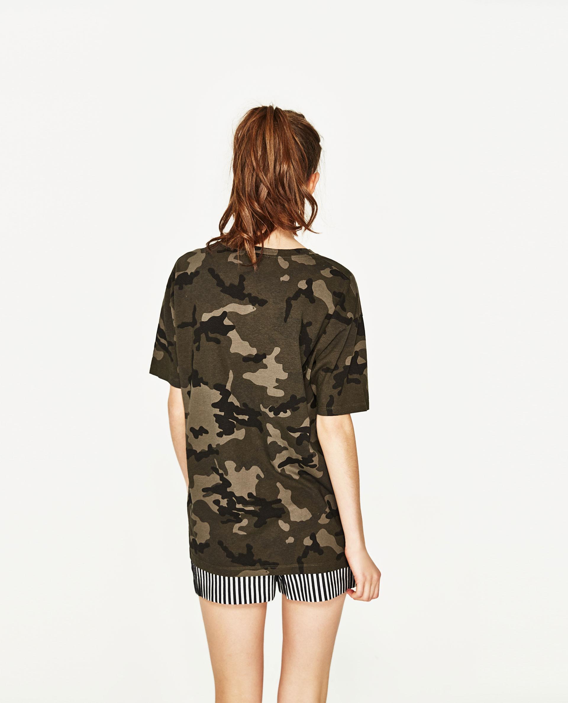 Lastest Zara Camouflage Print Trousers In Multicolor  Lyst
