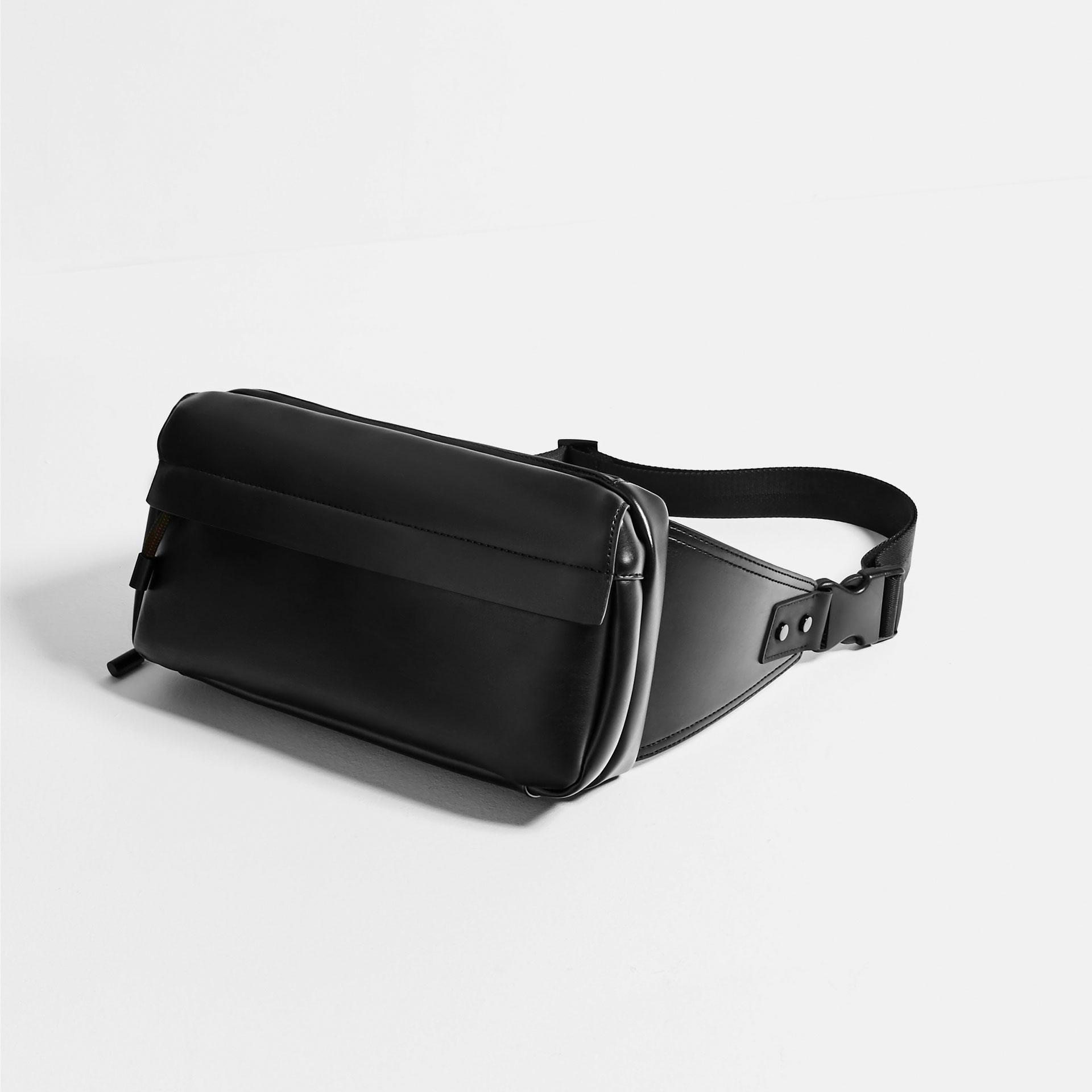 Zara Black Crossbody Bag In Black For Men | Lyst