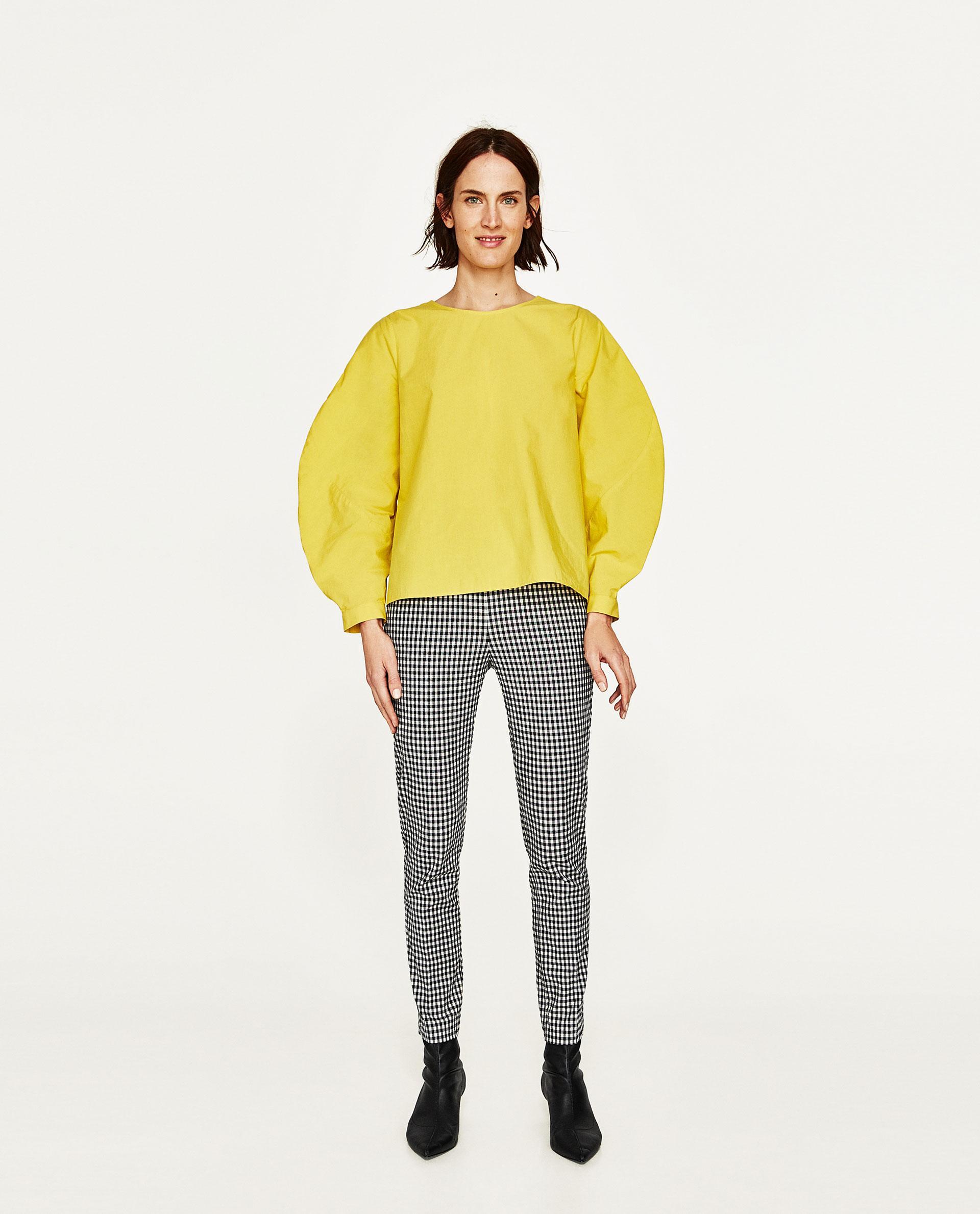 Yellow Blouse Zara 30