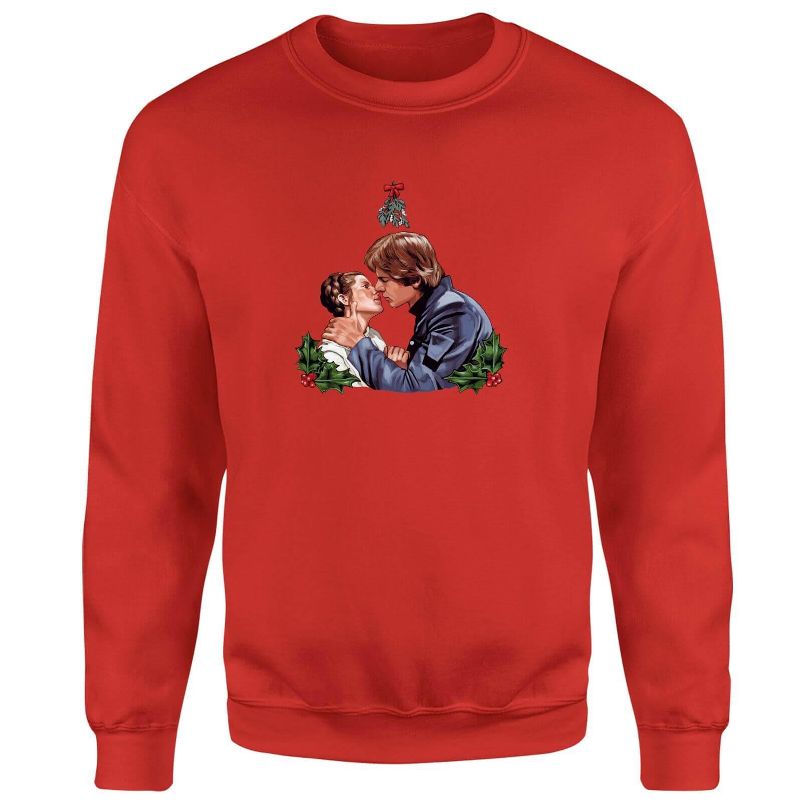 Star Wars Mistletoe Kiss Red Christmas Sweatshirt in Red - Lyst