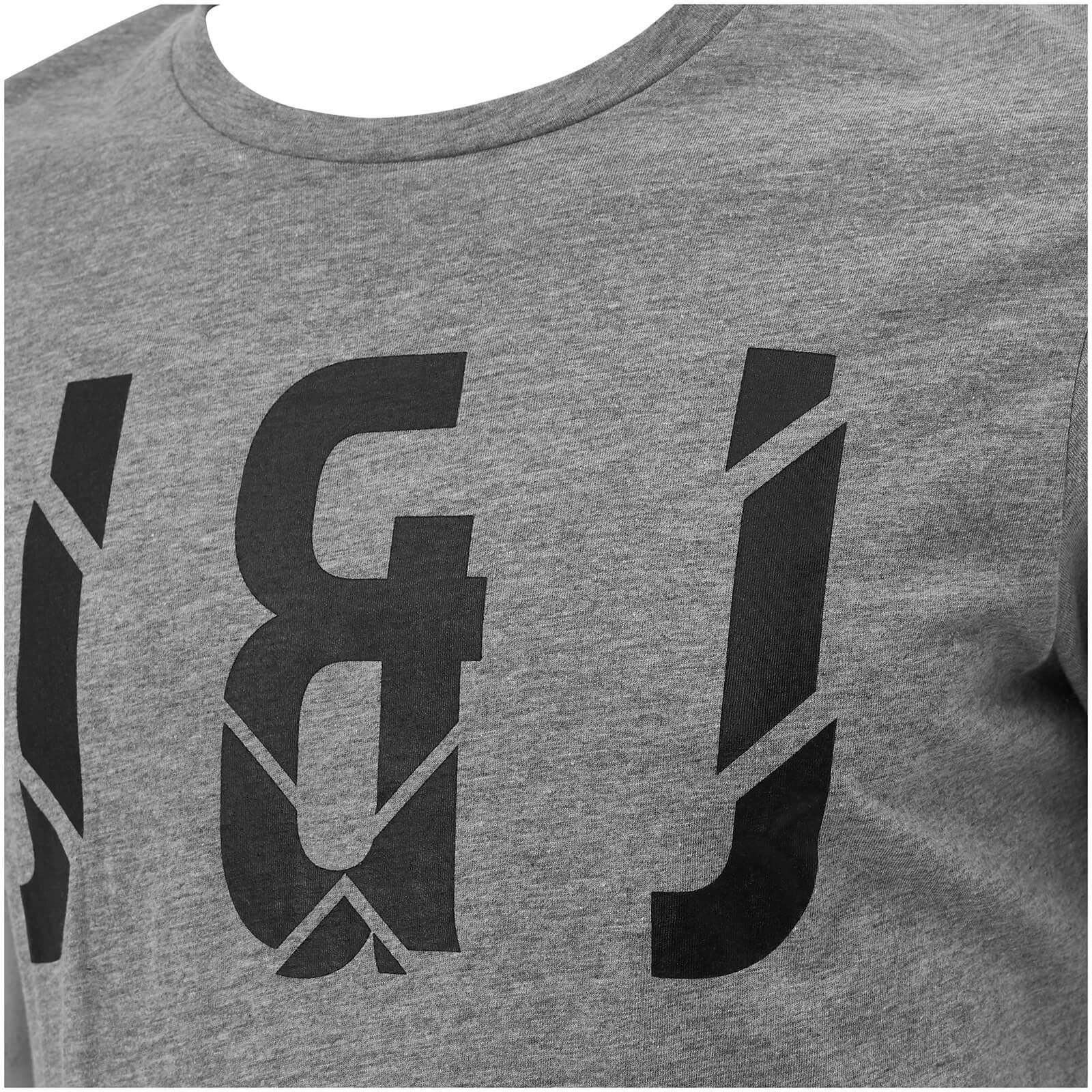 Jack & Jones Cotton Core Pixel T-shirt in Grey (Grey) for Men