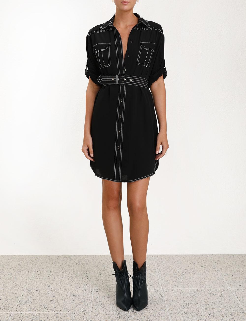 fa3e3bcf60dc1 Zimmermann - Black Utility Short Dress - Lyst. View fullscreen