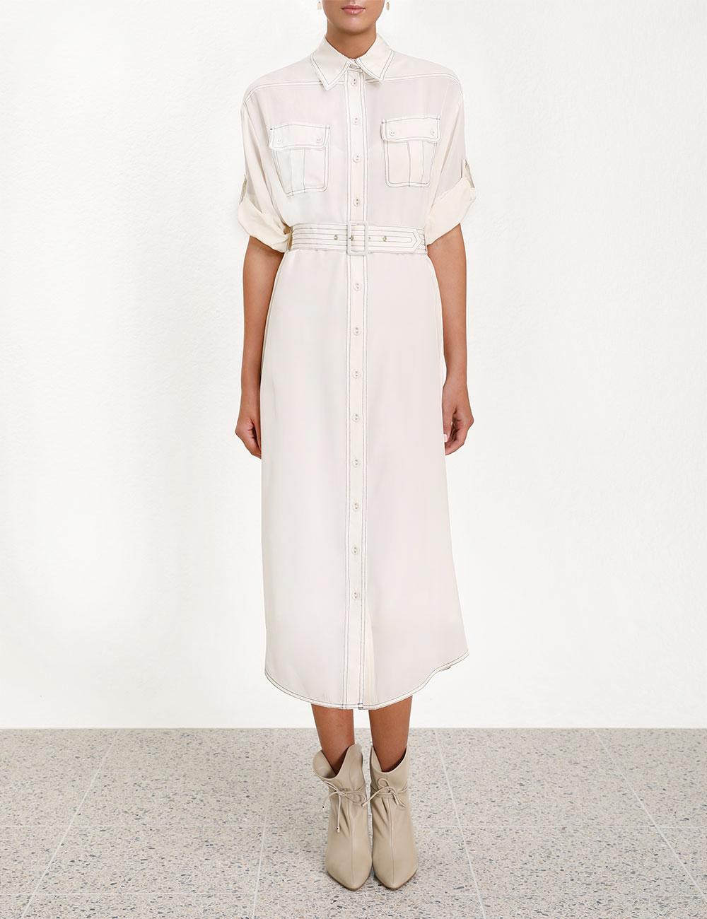 b63e454800a31 Zimmermann - White Utility Dress - Lyst. View fullscreen