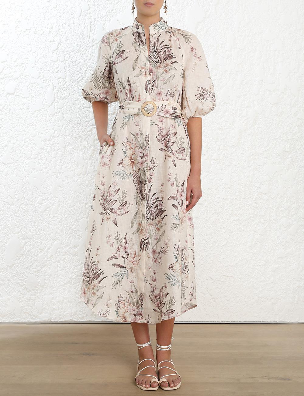 263ed10b89 Lyst - Zimmermann Tropical Print Dress - Save 12%