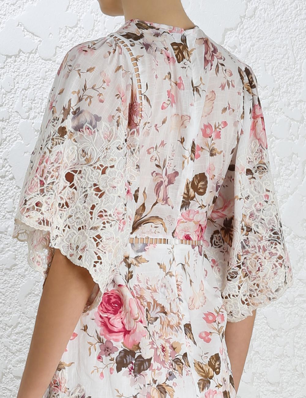 Zimmermann eden embroidered dress lyst