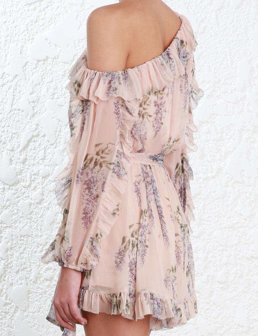 faff3717ae Lyst - Zimmermann Folly Whimsy Playsuit in Pink