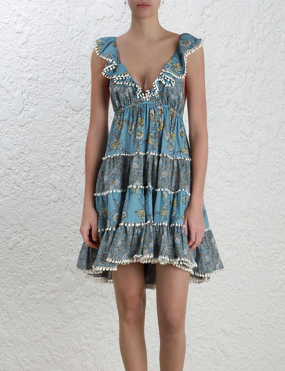 a3618fe7f2f Zimmermann Caravan Tiered Sun Dress - Lyst